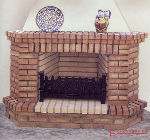 Chimeneas de ladrillo extrar stico - Imagenes chimeneas rusticas ...